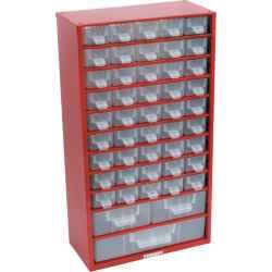 Tárolószekrény apró alkatrészekhez, 48-fiókos 551,0mmx306,0mmx155,0mm SCC048