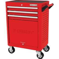 3 fiókos görgős szerszámos szekrény piros 710,0mmx465,0mmx845,0mm