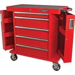 5 fiókos görgős szerszámos szekrény piros 710,0mmx465,0mmx845,0mm
