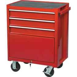 Szerszámszekrény 3 fiókos, görgős piros 690 x 460 x 890mm