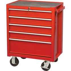 Szerszámszekrény 5 fiókos, görgős piros 690 x 460 x 890mm