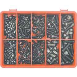 Metrikus aljzat csavar készlet (310 darabos) ISO 7380