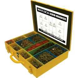 Pozdorja facsavar készlet fém dobozban (2880 darabos)