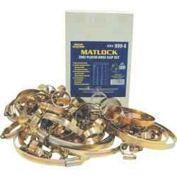 Tömlőbilincs készlet vegyes rozsdamentes acél 50db/doboz