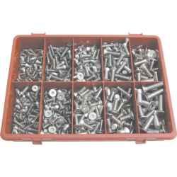 Süllyesztett fejű foglalatrögzítő csavar készlet A2 (310 darabos) rozsdamentes acél