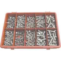 Foglalatrögzítő gömbfejű csavar készlet A2 (310 darabos) rozsdamentes acél