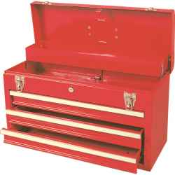 Szerszámos láda 3 fiókos piros 520 x 218 x 304mm