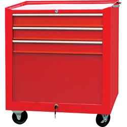 Szerszámszekrény görgős 3 fiókos piros 680 x 435 x 660mm