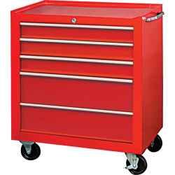 Szerszámszekrény görgős 5 fiókos piros 680 x 435 x 660mm