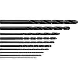 Hosszú csigafúró készlet 2-10,00mm HSS 10 db-os