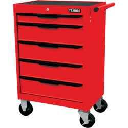 5 fiókos görgős szerszámszekrény piros 680,0mmx460,0mmx860,0mm
