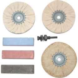 Polírozó készlet vastartalmú fémekhez
