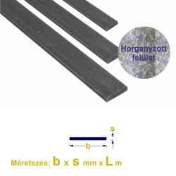 Laposvas horganyzott, S235, 20 x ~3mm x 6m 1szál