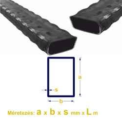 Zártszelvény bordás (mángorolt) 30 x 20 x 2mm x 6m 1szál