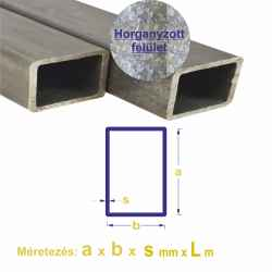 Zártszelvény horganyzott EN 10219-1, 40 x 20 x 2mm x 6m 1szál