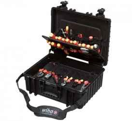 WIHA XL villanyszerelő szerszámkoffer 80r. 9300702/No.40523