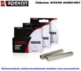APEXON tűzőgépkapocs lapos 6mm 1000db 1006HD/M Rapid140