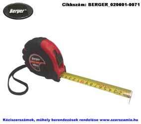 BERGER mérőszalag, gumírozott 3mx16mm, 10db/csomag