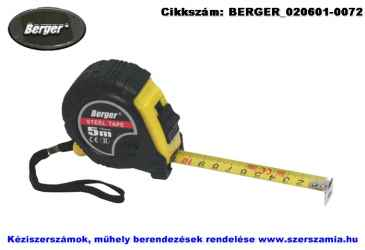 BERGER mérőszalag, gumírozott 5mx19mm, 10db/csomag