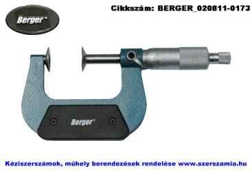 BERGER tányéros mikrométer 0-25/0,01mm