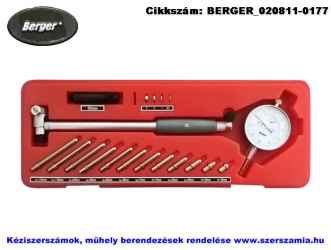 BERGER indikátoros furatmérő készlet 50-160/0,01mm INTO