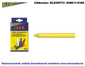 BLEISPITZ gumijelölő kréta sárga 12db No.0297