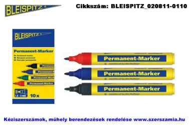 BLEISPITZ jelölőfilc d1,5-3,0mm fekete 10db No.0631