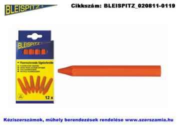 BLEISPITZ fajelölő kréta fluoreszkáló-narancs 12db No.0259