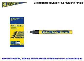 BLEISPITZ kábeljelölő d0,75mm fekete 10db No.0747