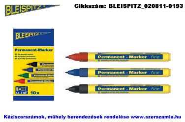 BLEISPITZ jelölőfilc d1,0mm piros 10db No.0754