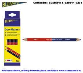 BLEISPITZ Duo-Marker ceruza 175mm piros-kék 12db No.1171