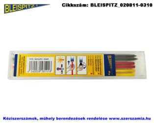 BLEISPITZ mélyfurat jelölőhöz töltőbetét grafit/piros/citromsárga 3x2db No.1416