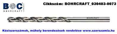 BOHRCRAFT köszörült hosszú csigafúró DIN340 HSS-G d2,0x85/56, 10db/csomag