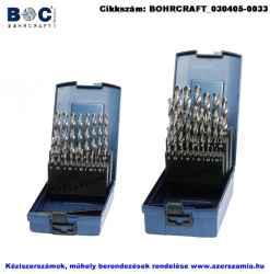 BOHRCRAFT csigafúró készlet HSS-G 19 részes d1,0-10,0/0,5 KG10 ABS-Box