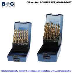 BOHRCRAFT csigafúró készlet HSS-TiN 19 részes d1,0-10,0/0,5 KT10 ABS-Box