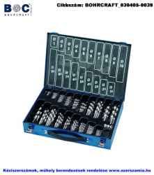 BOHRCRAFT csigafúró készlet HSS-G 170 részes d1,0-10,0/0,5 MG170 Metal-Box