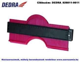 DEDRA kontúrmásoló sablon 250mm