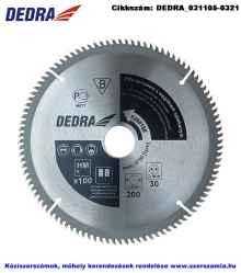 DEDRA körfűrésztárcsa keményfém trapéz fogazattal HM d200x30 Z100/TR-F