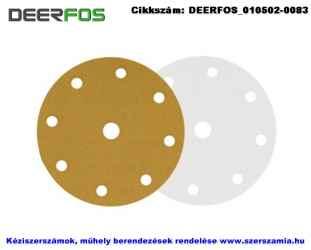 DEERFOS tépőzáras csiszolólap 8 plusz 1 lyukas CA331 d150 P320A 25db/csomag