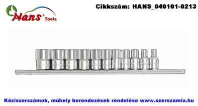 HANS 1/4 col dugókulcsfej készlet 11 részes 4-14mm 2611M