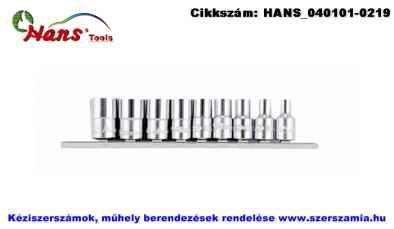HANS 1/4 col dugókulcsfej készlet 9 részes 5/32 col-1/2 col 2609A