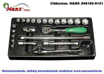 HANS 3/8 col dugókulcs készlet 23 részes 6-22mm TT-15.1 fiókmodul