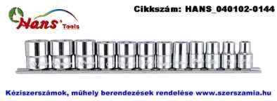 HANS 3/8 col dugókulcsfej készlet 12 részes 8-19mm 3612M