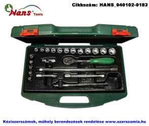HANS 3/8 col dugókulcs készlet 23 részes 6-22mm TTK-15.1 szerszámos ládában