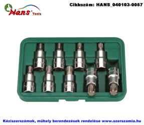 HANS 1/2 col RiBE bit-dugókulcsfej készlet 9 részes M5-M14 46029-9