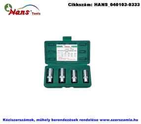 HANS 1/2 col tőcsavarhajtó készlet 4 részes 6-12 4391M