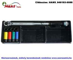 HANS nyomatékkulcs készlet 9 részes 40-210Nm TT-48G fiókmodul