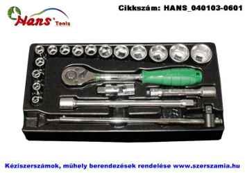 HANS 1/2 col dugókulcs készlet 20 részes 8-32mm TT-16.1 fiókmodul