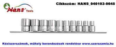 HANS 1/2 col dugókulcsfej készlet 10 részes 10-24mm 4610M