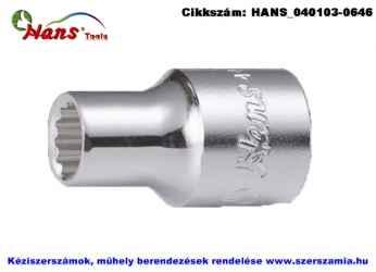HANS 1/2 col dugókulcsfej 12 szögű 8mm 4402M08